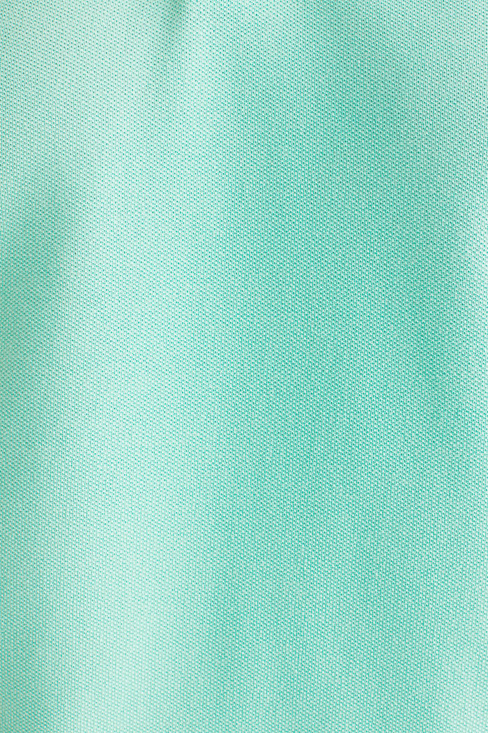 Piqué-Poloshirt mit COOLMAX®, LIGHT GREEN, detail image number 4