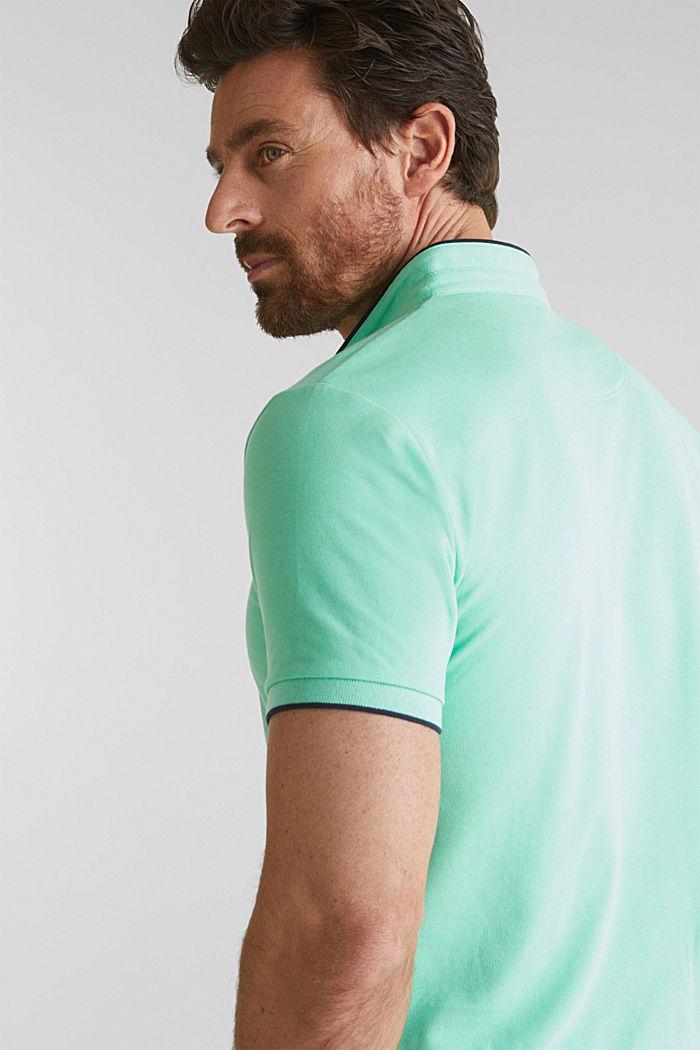 Piqué-Poloshirt mit COOLMAX®, LIGHT GREEN, detail image number 5