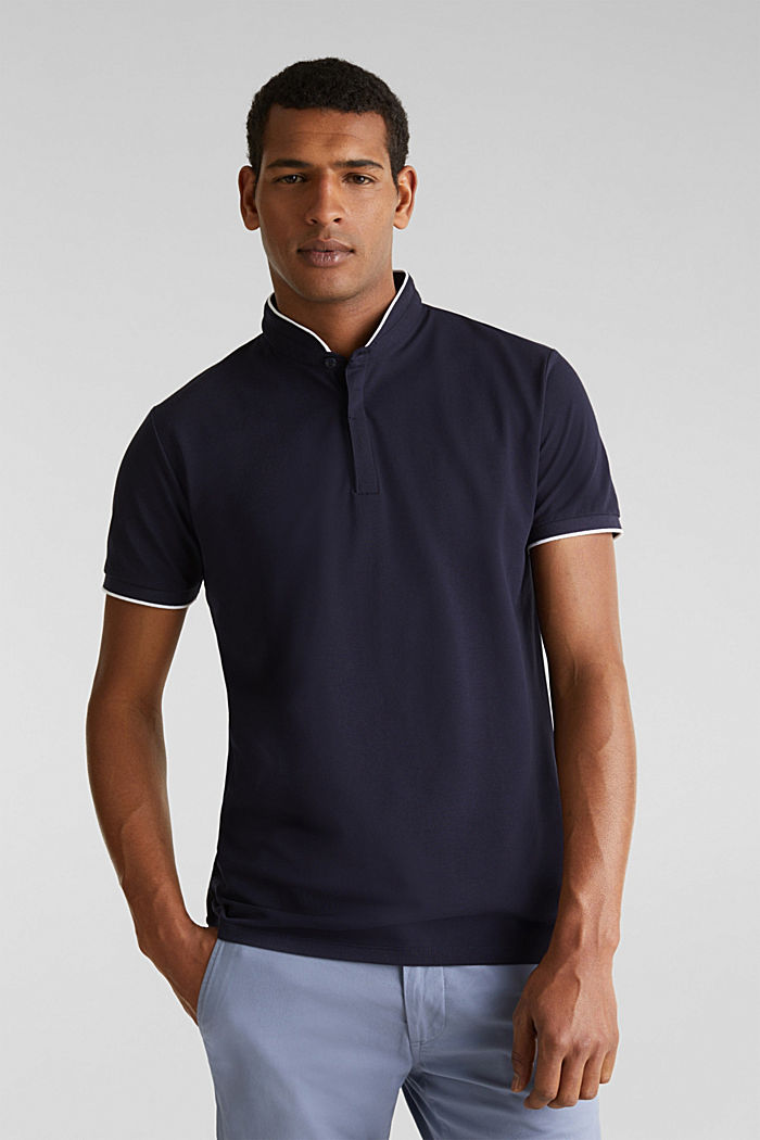 Piqué polo shirt with COOLMAX®, NAVY, detail image number 0