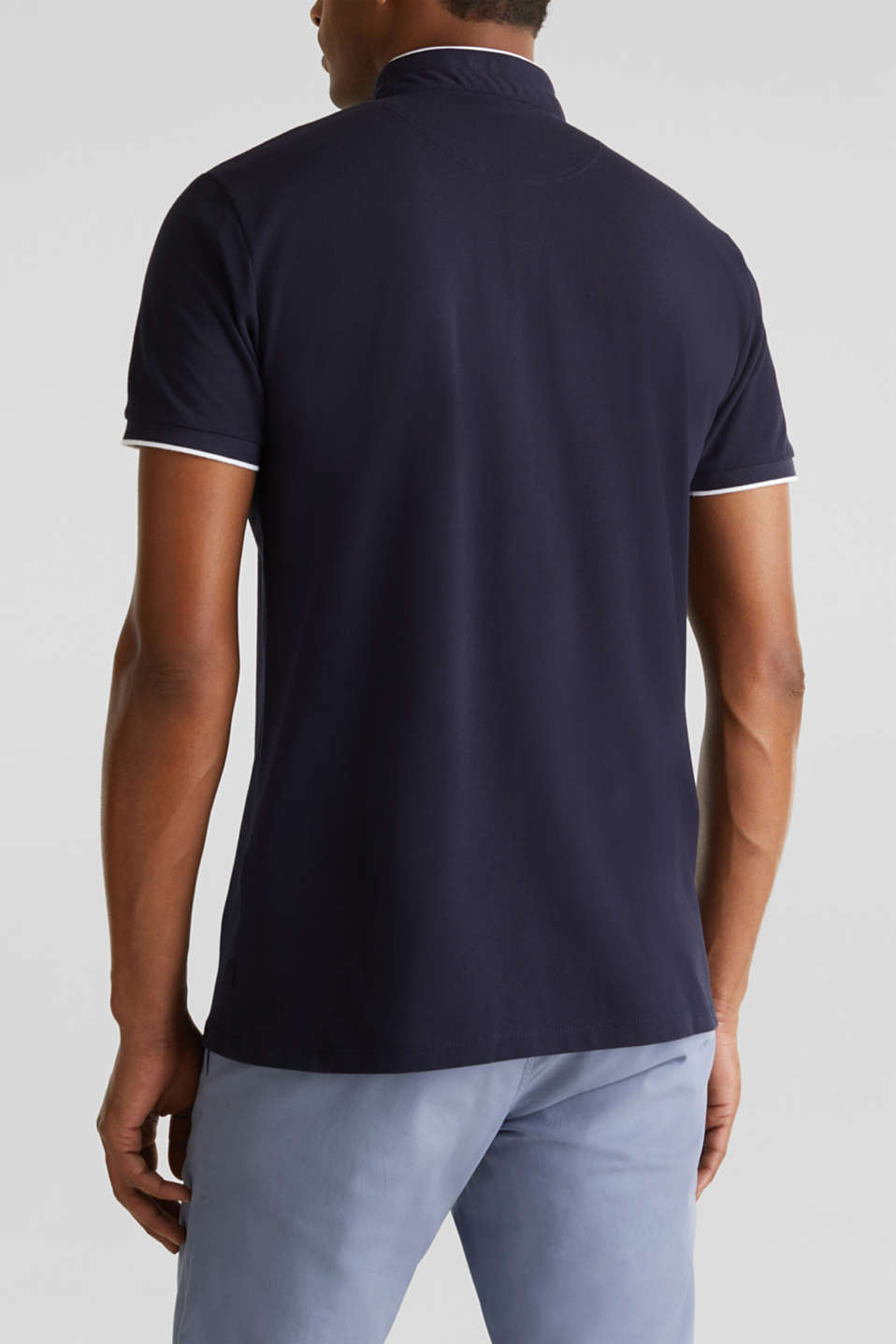 Piqué polo shirt with COOLMAX®, NAVY, detail image number 3