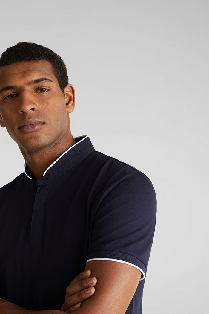 Piqué polo shirt with COOLMAX®, NAVY, detail image number 5