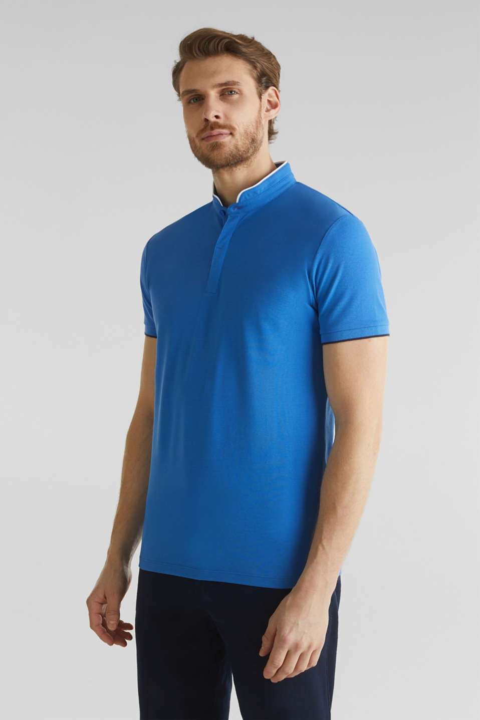 Piqué polo shirt with COOLMAX®, BLUE 2, detail image number 0