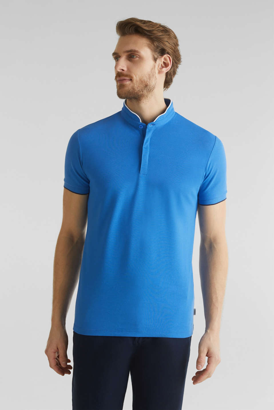 Piqué polo shirt with COOLMAX®, BLUE 2, detail image number 4