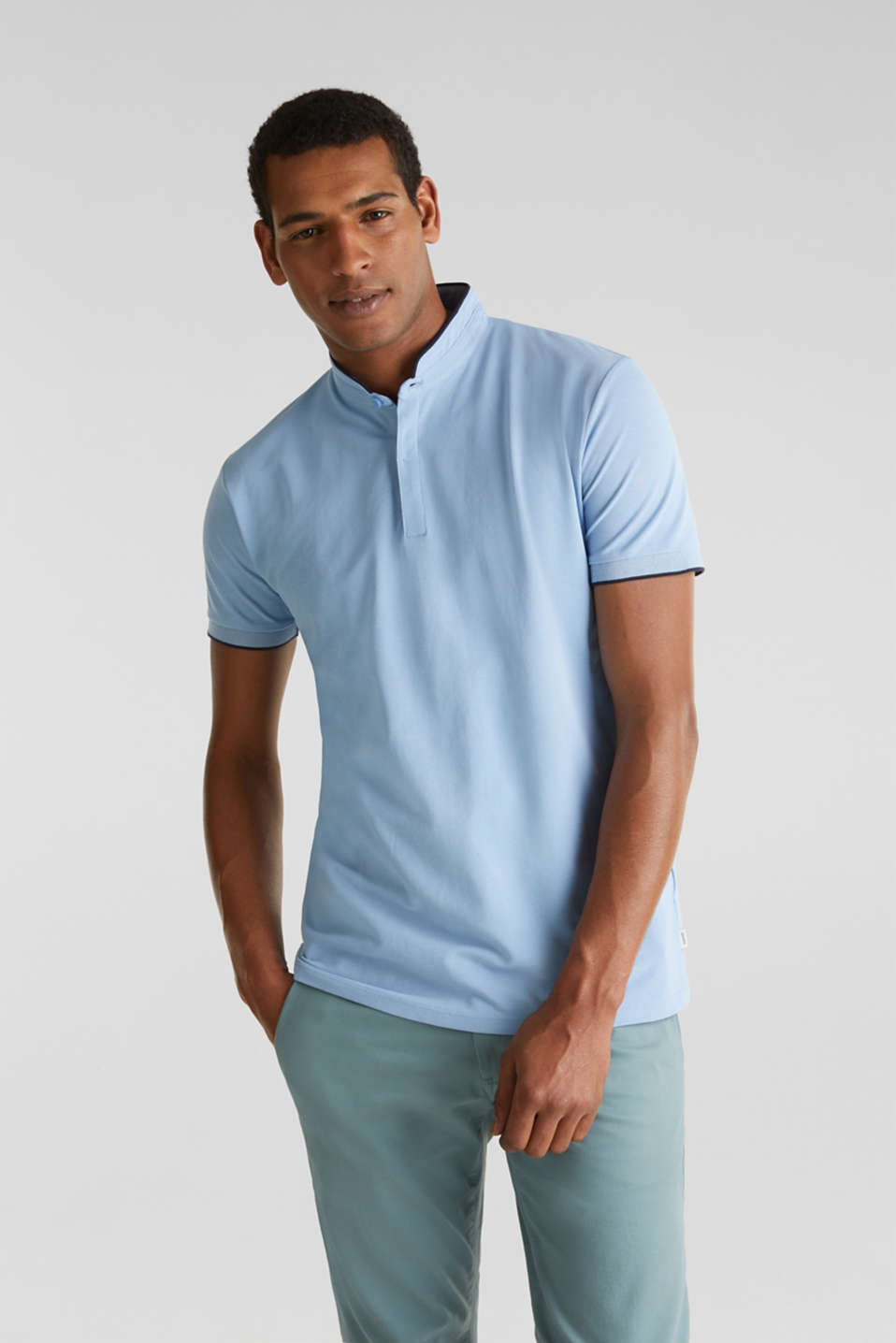 Piqué polo shirt with COOLMAX®, LIGHT BLUE, detail image number 0