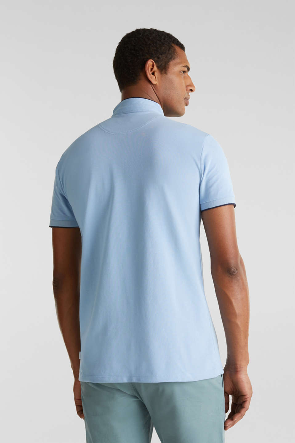 Piqué polo shirt with COOLMAX®, LIGHT BLUE, detail image number 3