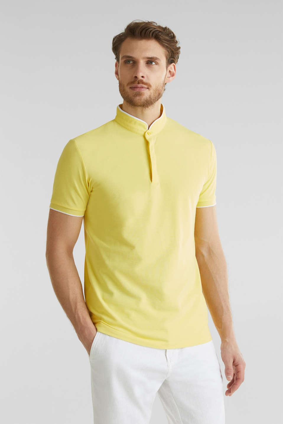 Piqué polo shirt with COOLMAX®, LIGHT YELLOW, detail image number 0