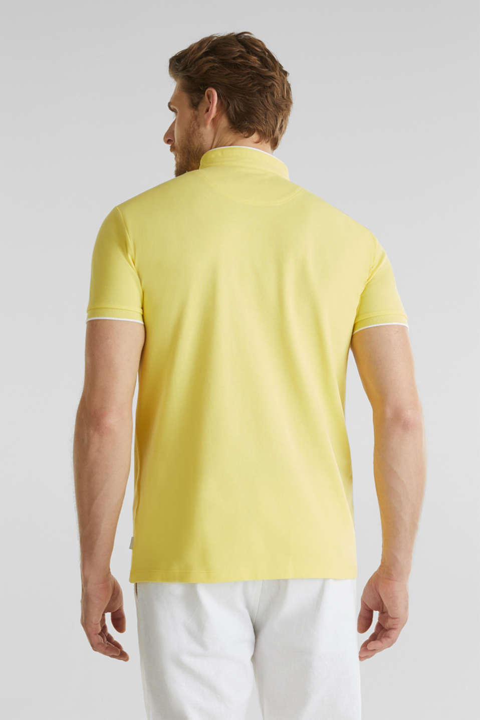 Piqué polo shirt with COOLMAX®, LIGHT YELLOW, detail image number 3