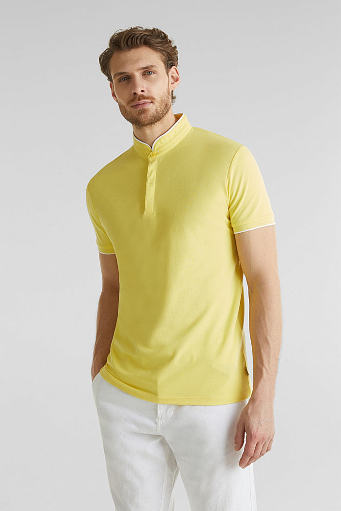 Piqué-Poloshirt mit COOLMAX®, LIGHT YELLOW, detail image number 4