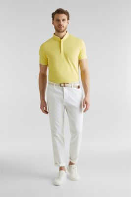 Piqué polo shirt with COOLMAX®, LIGHT YELLOW, detail