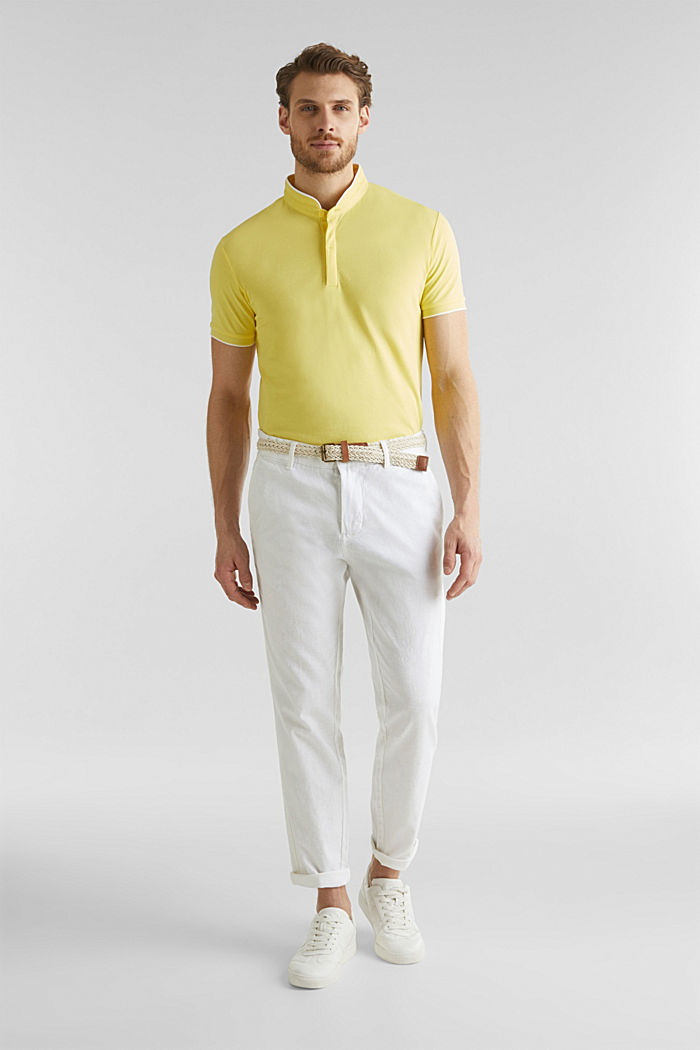 Piqué-Poloshirt mit COOLMAX®, LIGHT YELLOW, detail image number 2
