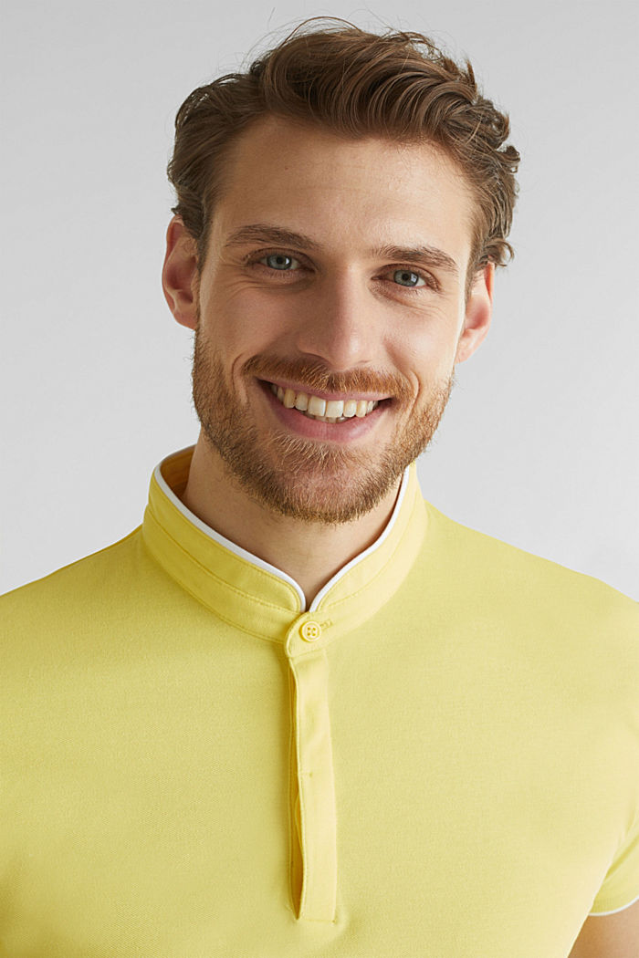 Piqué-Poloshirt mit COOLMAX®, LIGHT YELLOW, detail image number 1