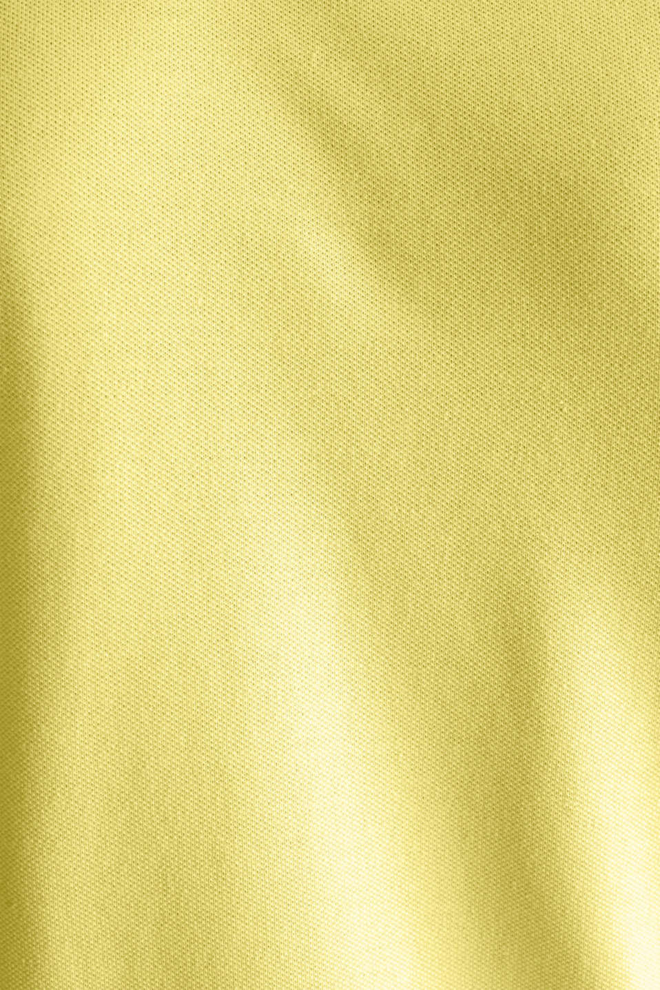 Piqué polo shirt with COOLMAX®, LIGHT YELLOW, detail image number 5
