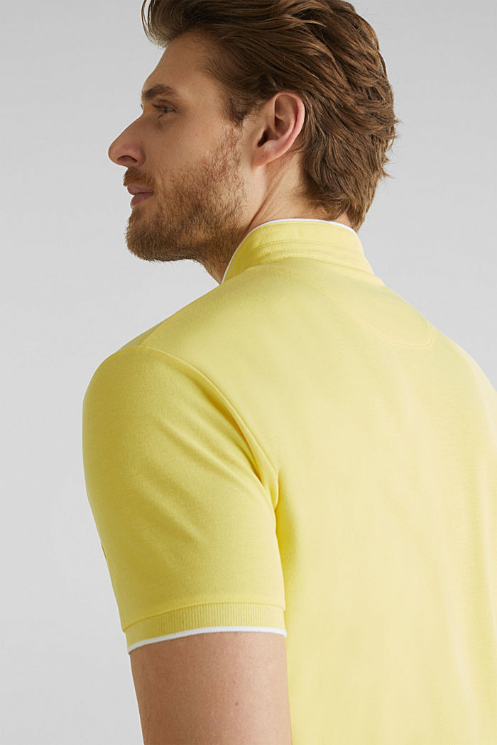 Piqué-Poloshirt mit COOLMAX®, LIGHT YELLOW, detail image number 6