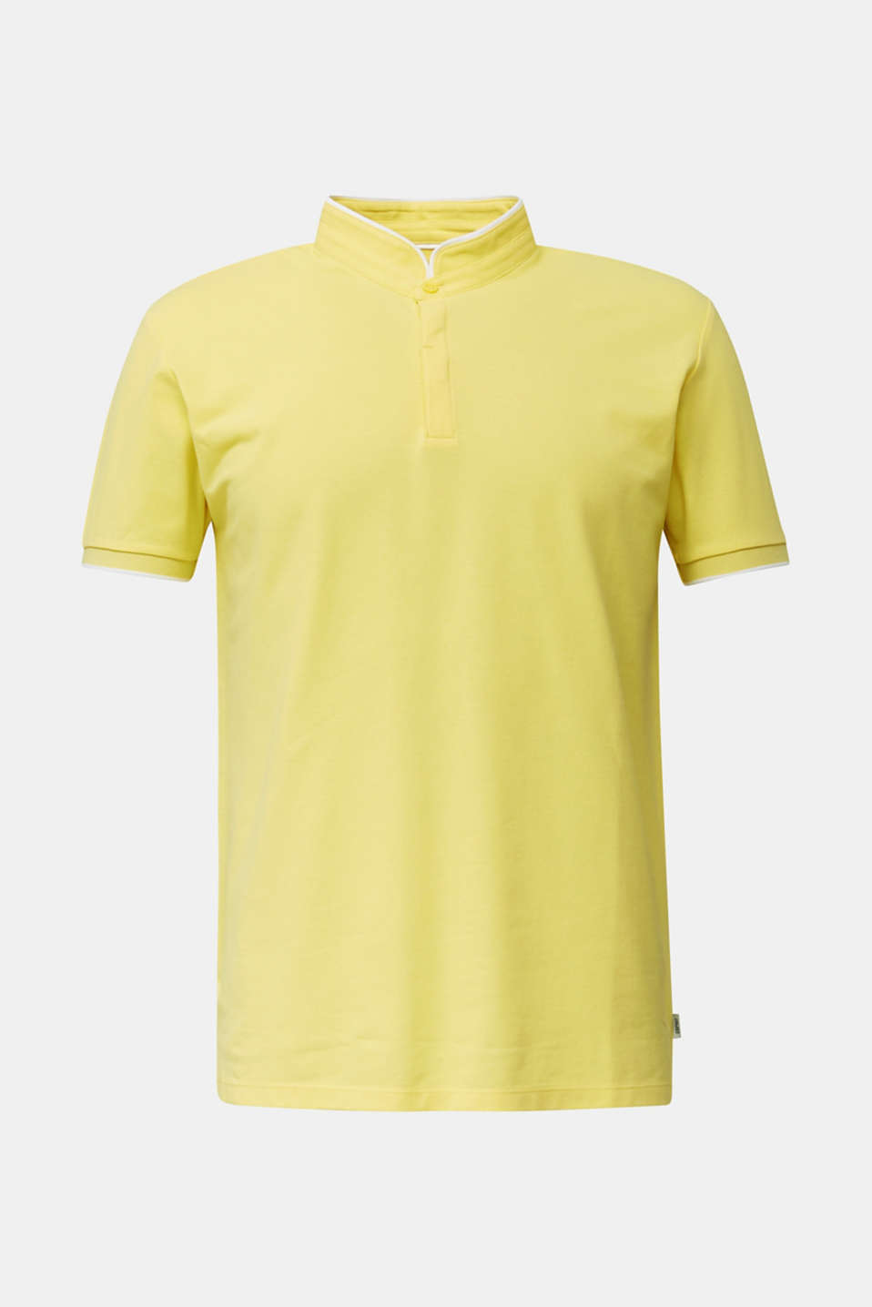 Piqué polo shirt with COOLMAX®, LIGHT YELLOW, detail image number 7