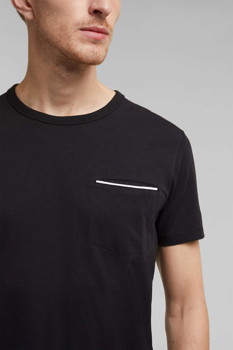 Jersey T-shirt with a pocket and COOLMAX®, BLACK, detail image number 1