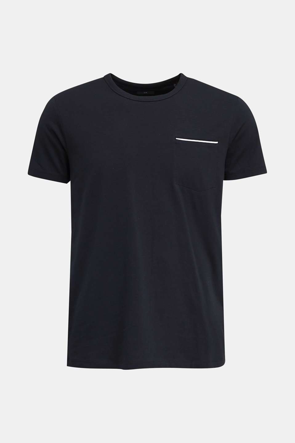Jersey T-shirt with a pocket and COOLMAX®, BLACK, detail image number 5