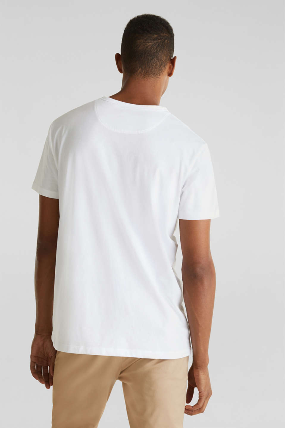 Jersey T-shirt with a pocket and COOLMAX®, WHITE, detail image number 3