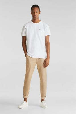 Jersey T-shirt with a pocket and COOLMAX®, WHITE, detail