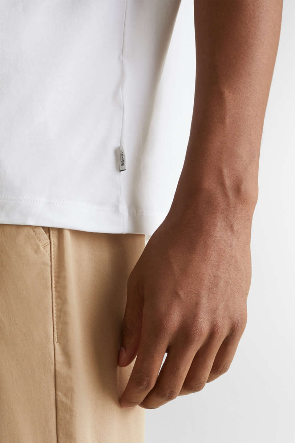 Jersey T-shirt with a pocket and COOLMAX®, WHITE, detail image number 1