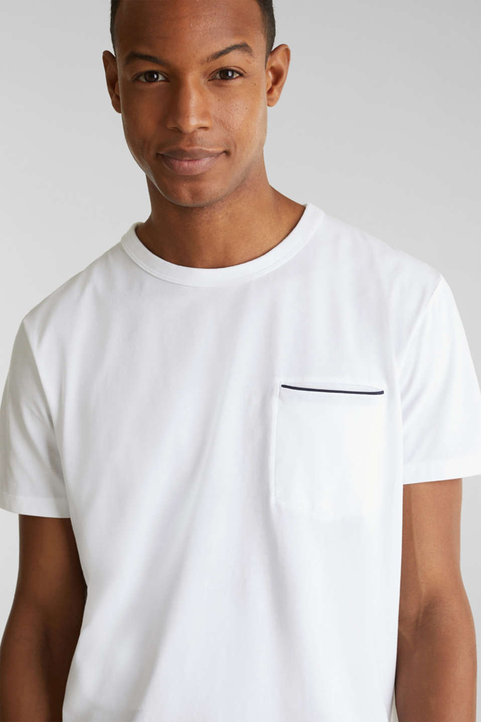 Jersey T-shirt with a pocket and COOLMAX®, WHITE, detail image number 5