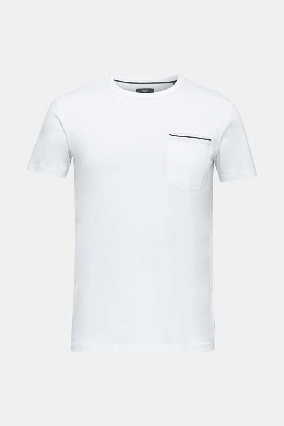 Jersey T-shirt with a pocket and COOLMAX®, WHITE, detail image number 7