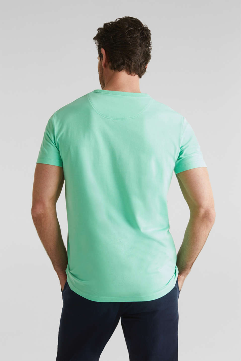Jersey T-shirt with a pocket and COOLMAX®, LIGHT GREEN, detail image number 3