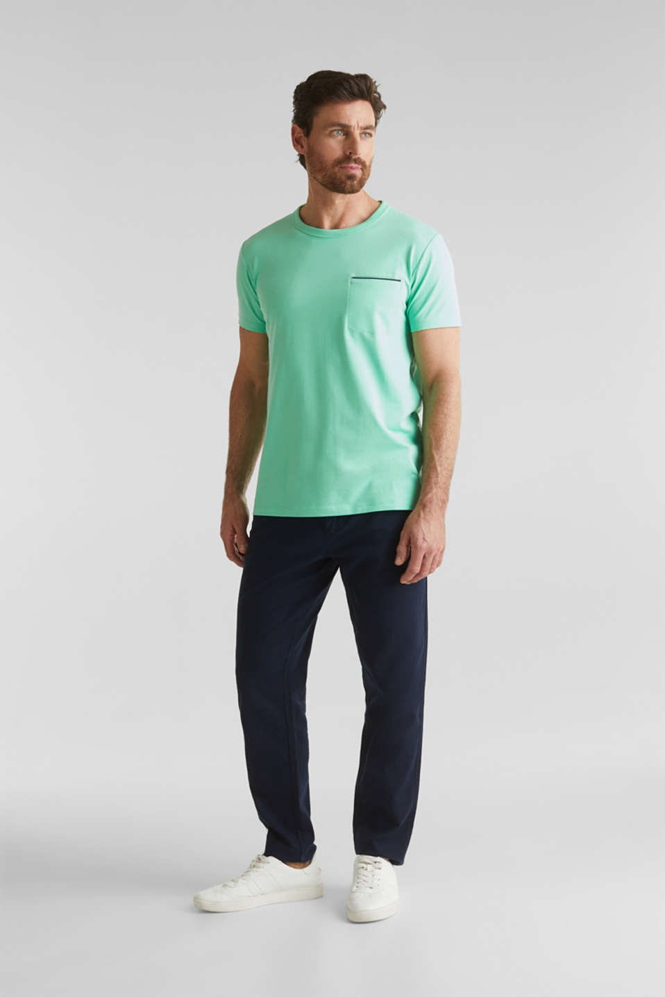 Jersey T-shirt with a pocket and COOLMAX®, LIGHT GREEN, detail image number 2