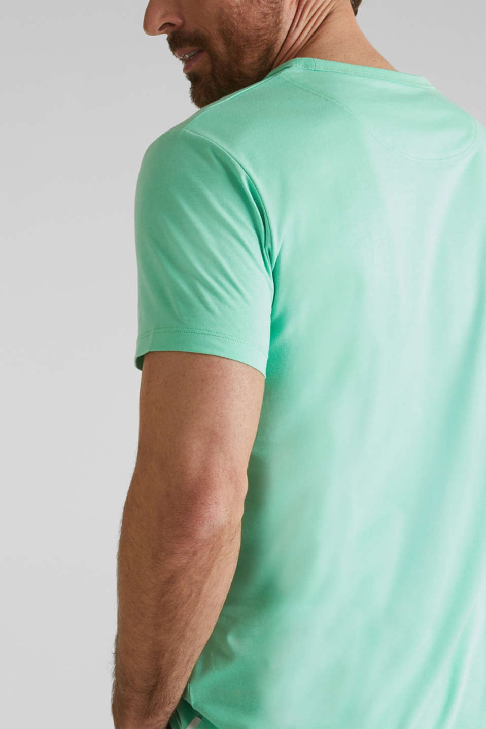 Jersey T-shirt with a pocket and COOLMAX®, LIGHT GREEN, detail image number 5