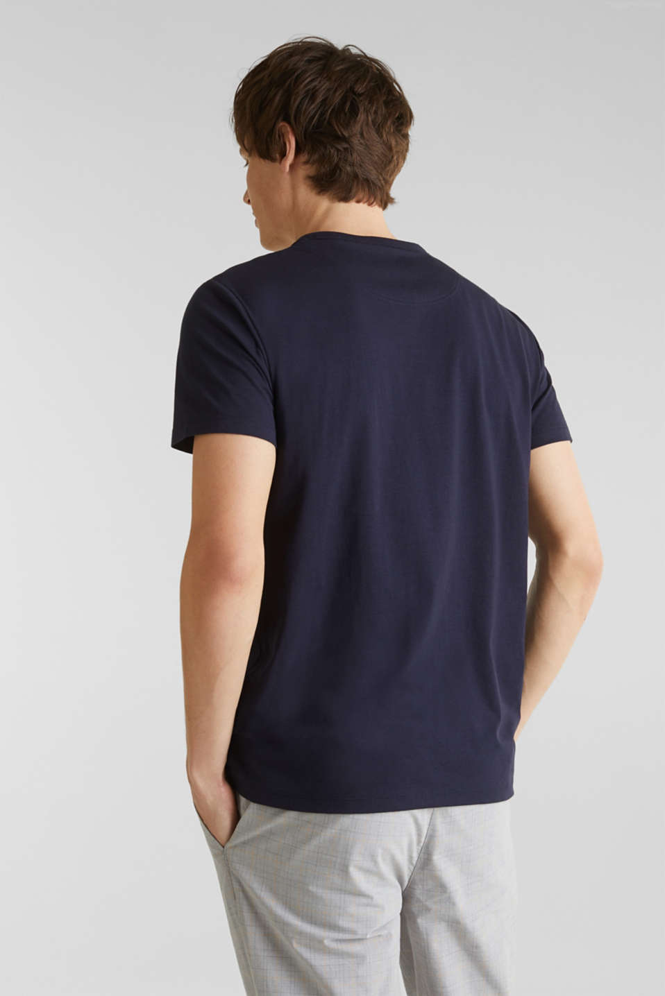 Jersey T-shirt with a pocket and COOLMAX®, NAVY, detail image number 3