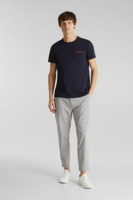 Jersey T-shirt with a pocket and COOLMAX®, NAVY, detail