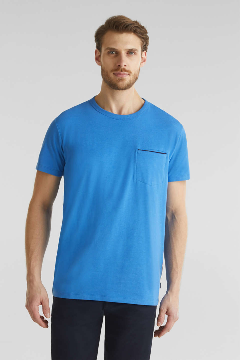Jersey T-shirt with a pocket and COOLMAX®, BLUE 2, detail image number 0