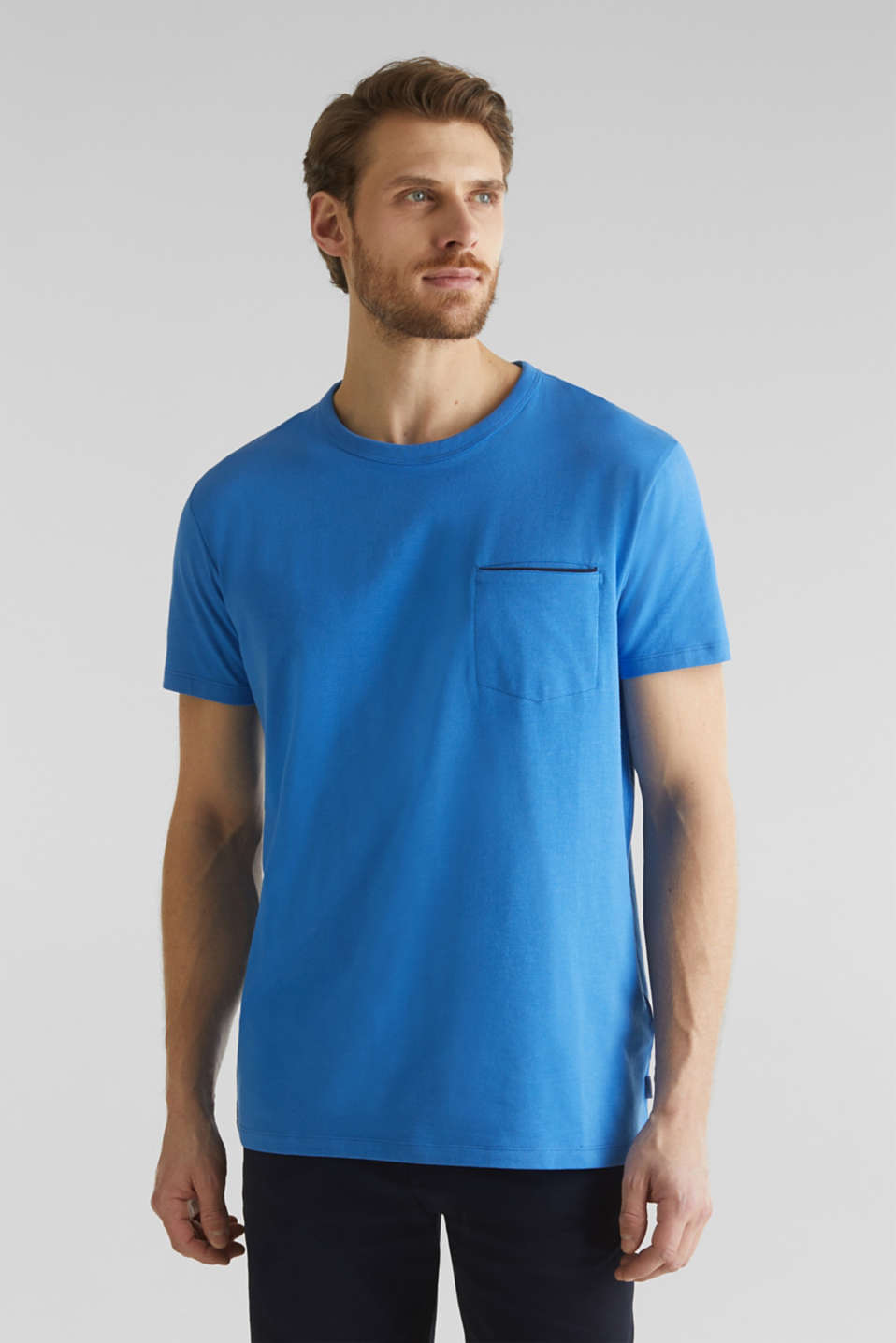 Jersey T-shirt with a pocket and COOLMAX®, BLUE 2, detail image number 4