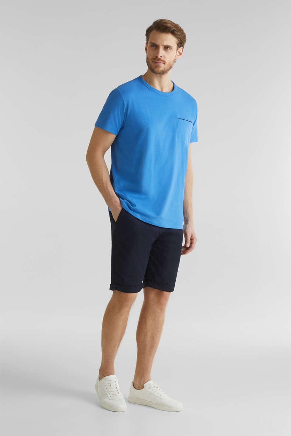 Jersey T-shirt with a pocket and COOLMAX®, BLUE 2, detail image number 2