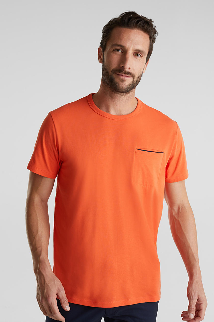 Jersey T-shirt with a pocket and COOLMAX®