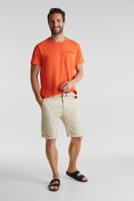 Jersey T-shirt with a pocket and COOLMAX®, RUST ORANGE, detail