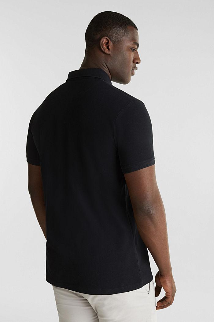 Piqué-Poloshirt aus 100% Pima Cotton, BLACK, detail image number 3
