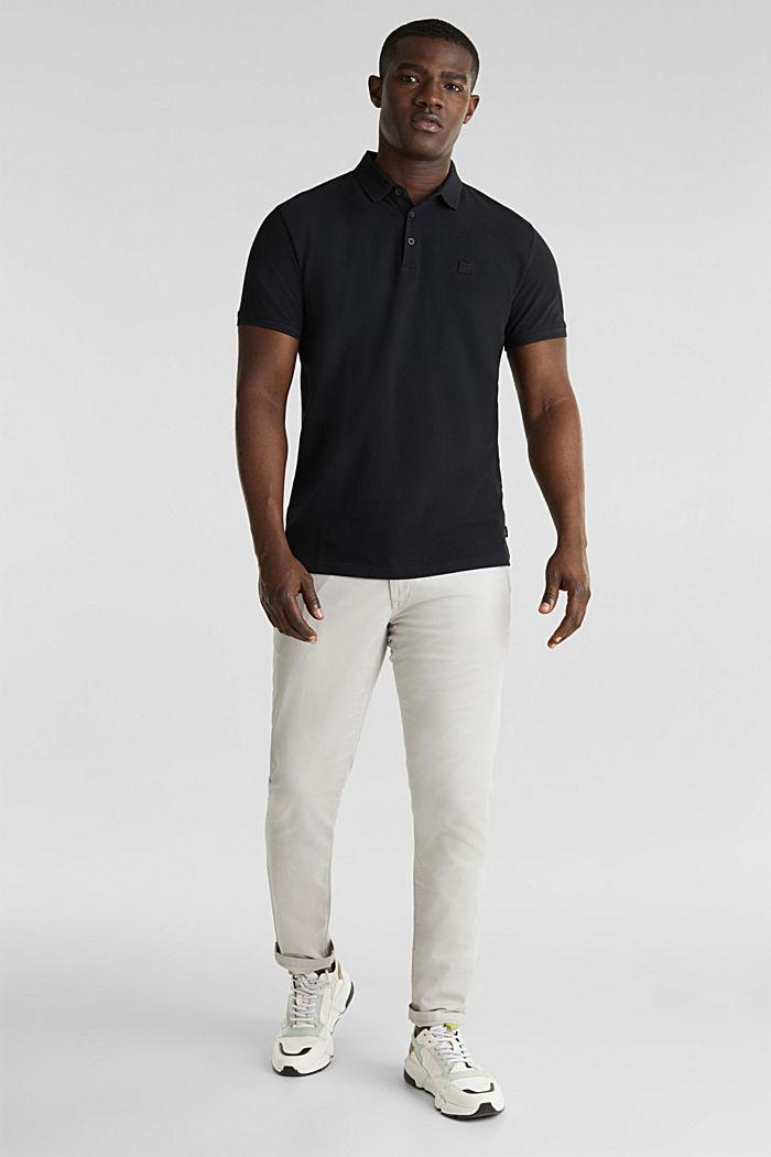 Piqué-Poloshirt aus 100% Pima Cotton, BLACK, detail image number 4