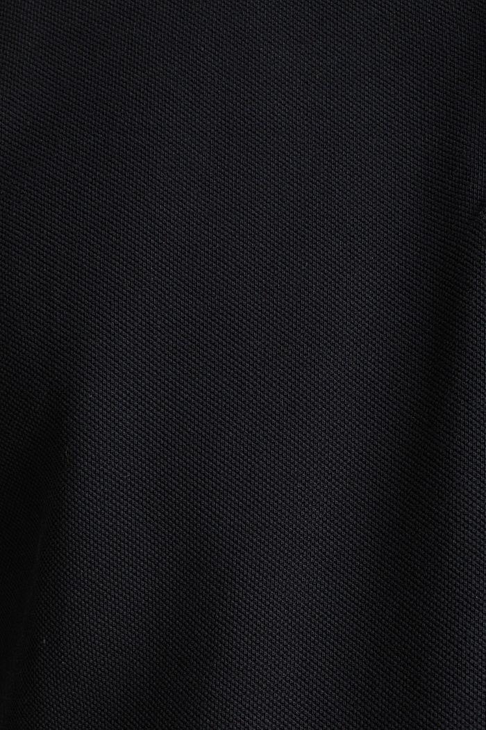 Piqué-Poloshirt aus 100% Pima Cotton, BLACK, detail image number 5
