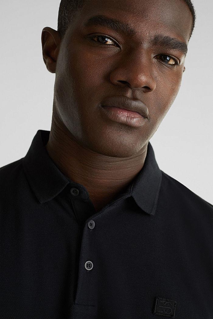 Piqué-Poloshirt aus 100% Pima Cotton, BLACK, detail image number 6