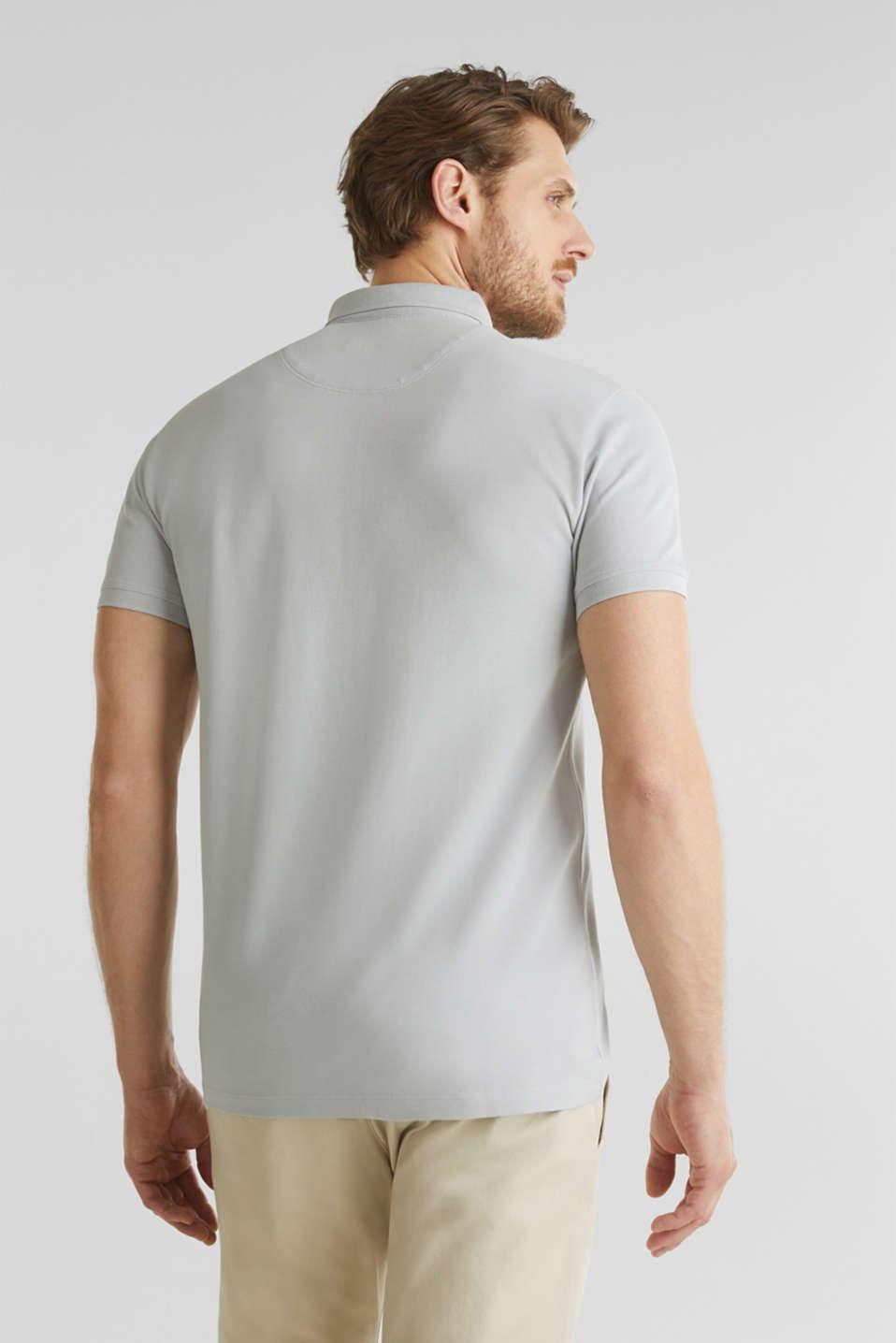 Piqué polo shirt made of 100% pima cotton, LIGHT GREY, detail image number 3