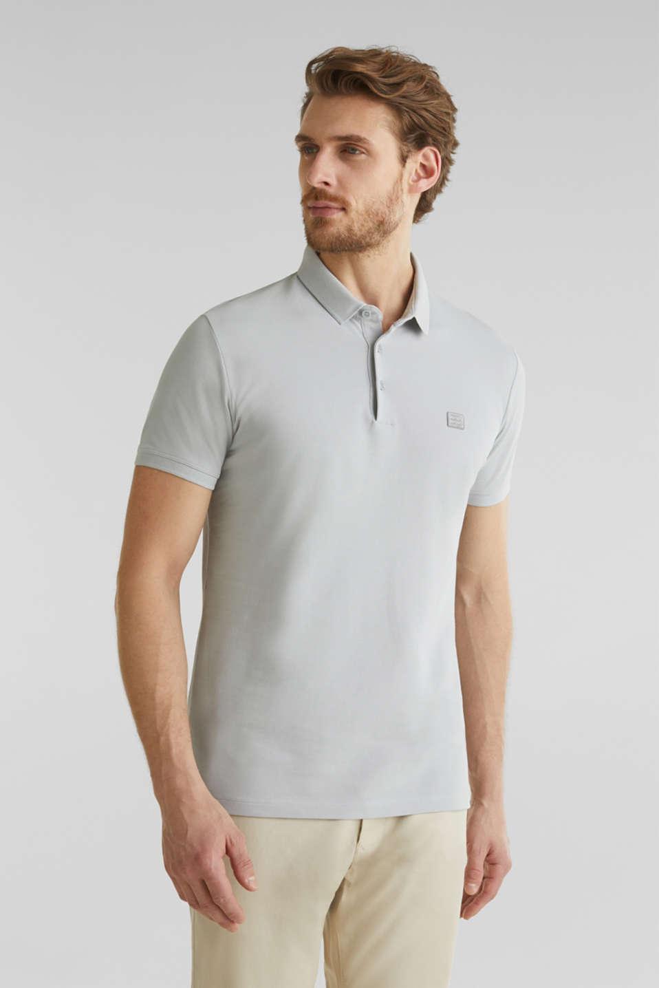 Piqué polo shirt made of 100% pima cotton, LIGHT GREY, detail image number 4