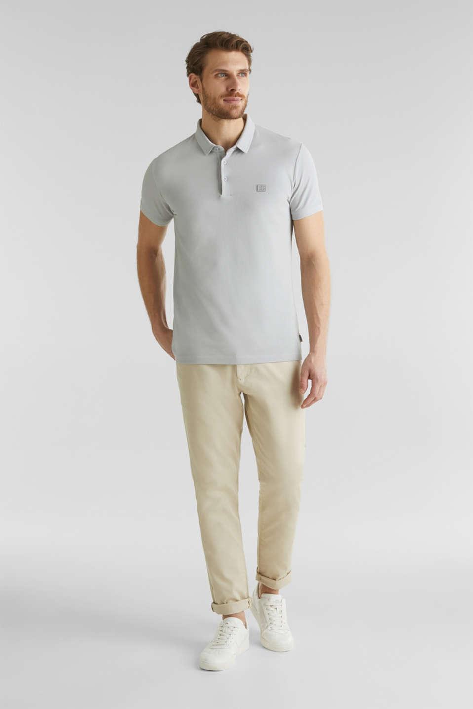 Piqué polo shirt made of 100% pima cotton, LIGHT GREY, detail image number 2