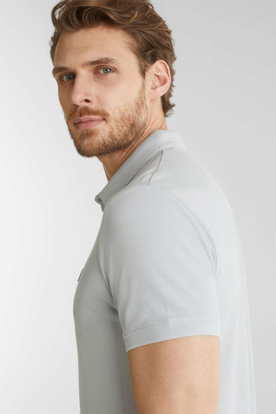 Piqué polo shirt made of 100% pima cotton, LIGHT GREY, detail image number 1