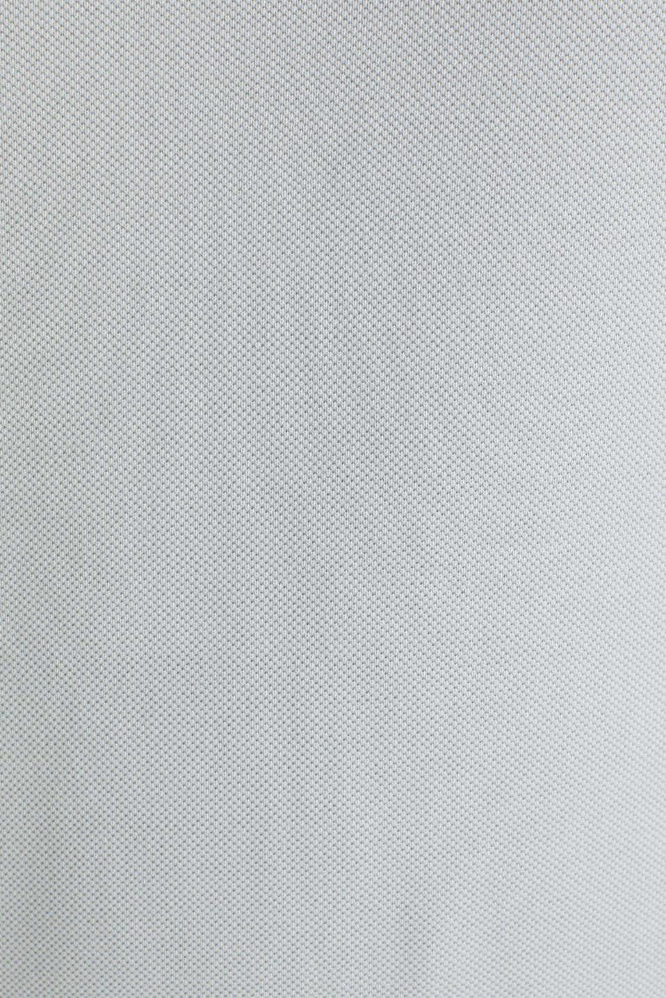 Piqué polo shirt made of 100% pima cotton, LIGHT GREY, detail image number 5