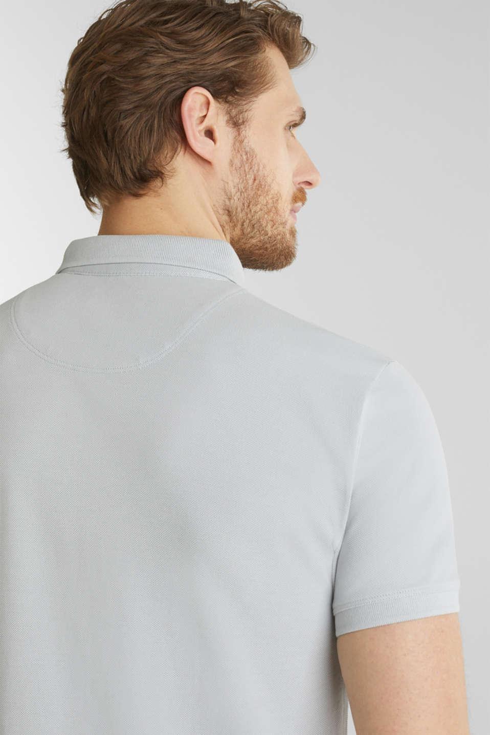 Piqué polo shirt made of 100% pima cotton, LIGHT GREY, detail image number 6