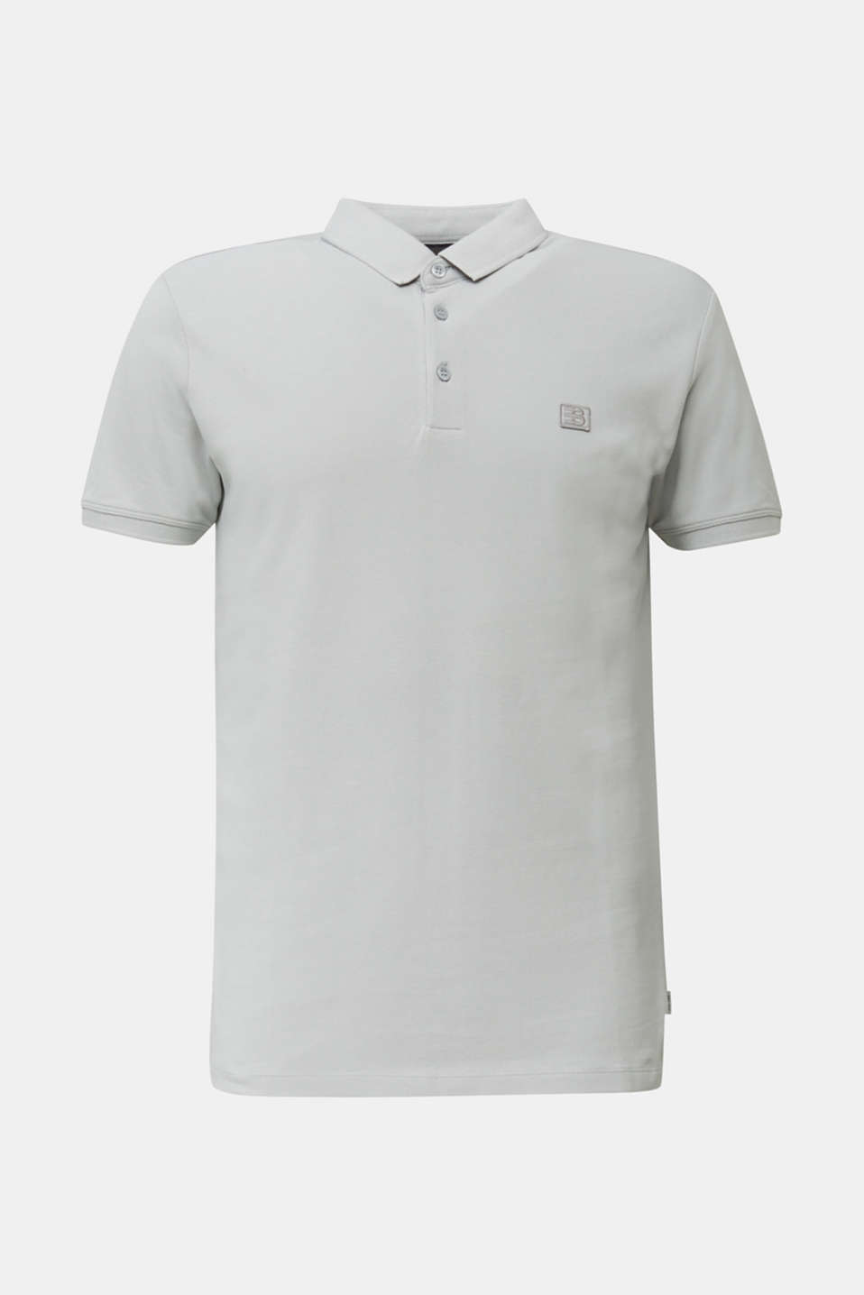 Piqué polo shirt made of 100% pima cotton, LIGHT GREY, detail image number 7