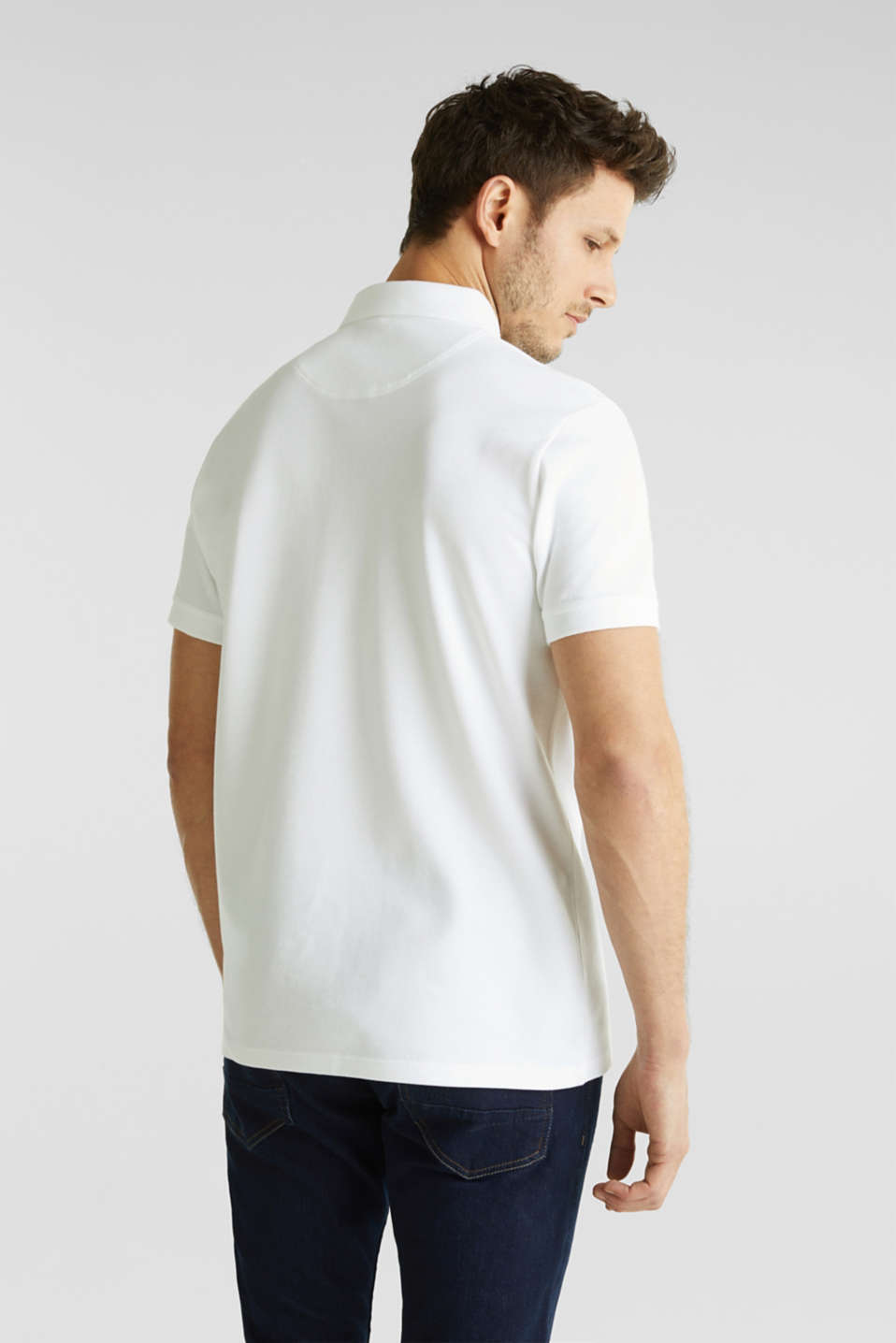 Piqué polo shirt made of 100% pima cotton, WHITE, detail image number 3