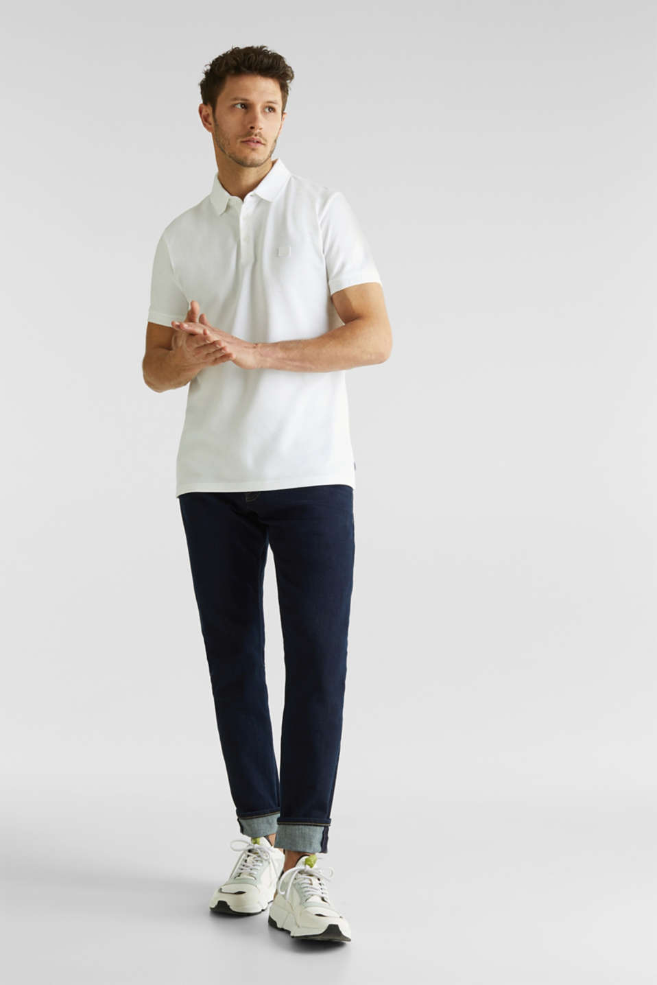 Piqué polo shirt made of 100% pima cotton, WHITE, detail image number 2