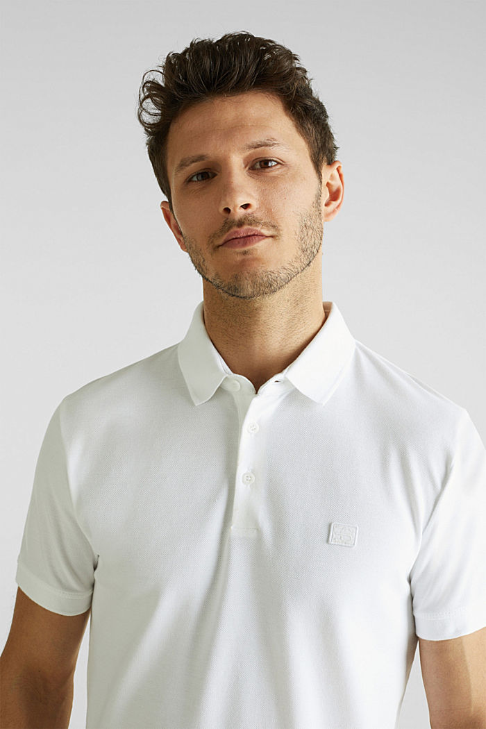 Piqué polo shirt made of 100% pima cotton, WHITE, overview