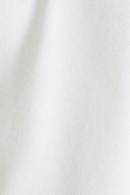 Piqué polo shirt made of 100% pima cotton, WHITE, detail